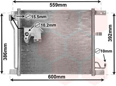 Condenseur, climatisation - VAN WEZEL - 13005401
