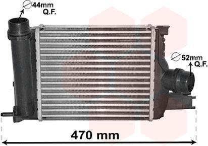 Intercooler, échangeur - VAN WEZEL - 15004013