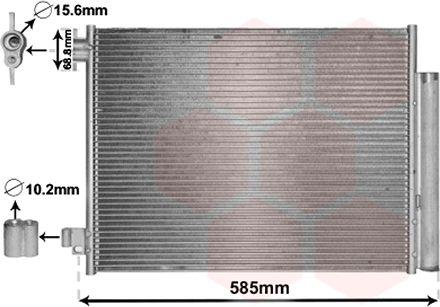 Condenseur, climatisation - VAN WEZEL - 15005011