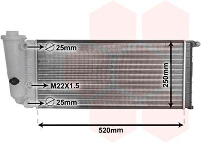 Radiateur, refroidissement du moteur - VAN WEZEL - 17002097