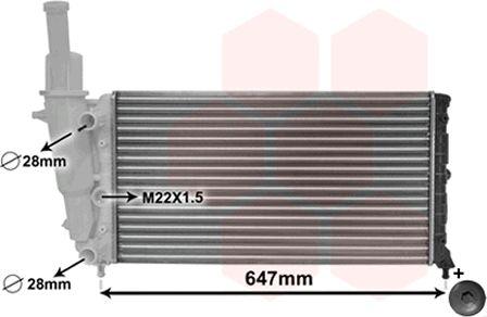 Radiateur, refroidissement du moteur - VAN WEZEL - 17002140