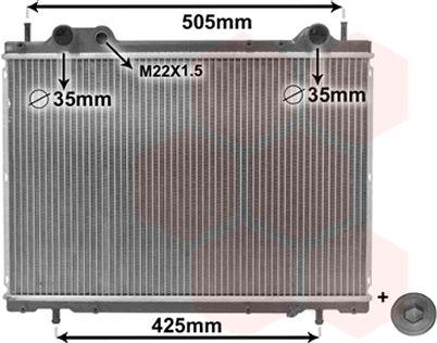 Radiateur, refroidissement du moteur - VAN WEZEL - 17002185