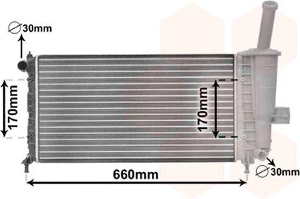 Radiateur, refroidissement du moteur - VAN WEZEL - 17002208
