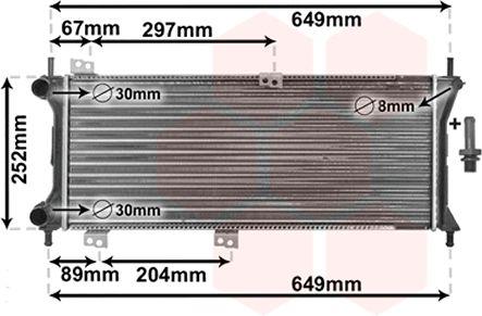 Radiateur, refroidissement du moteur - VWA - 88VWA17002258