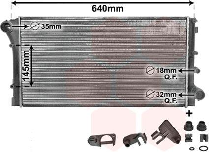 Radiateur, refroidissement du moteur - VAN WEZEL - 17002292