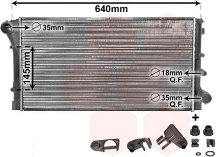 Radiateur, refroidissement du moteur - VAN WEZEL - 17002295