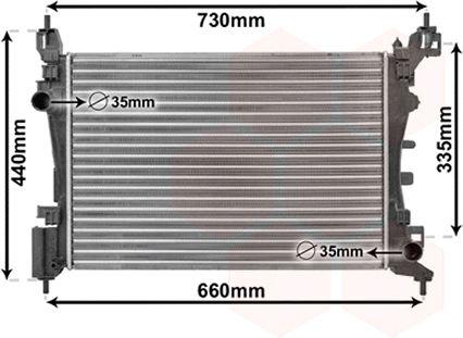 Radiateur, refroidissement du moteur - VWA - 88VWA17002318