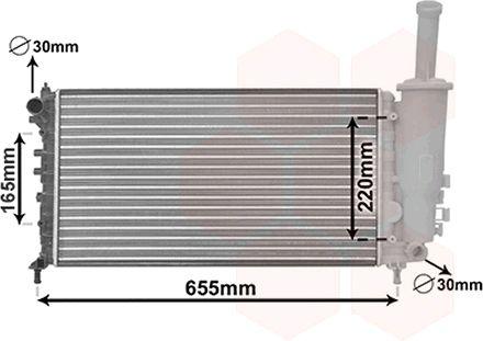 Radiateur, refroidissement du moteur - VAN WEZEL - 17002999