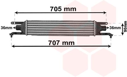Intercooler, échangeur - VAN WEZEL - 17004319