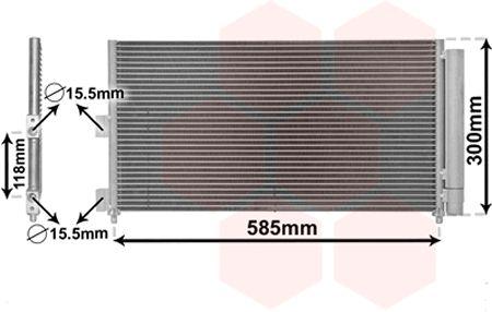 Condenseur, climatisation - VAN WEZEL - 17005289