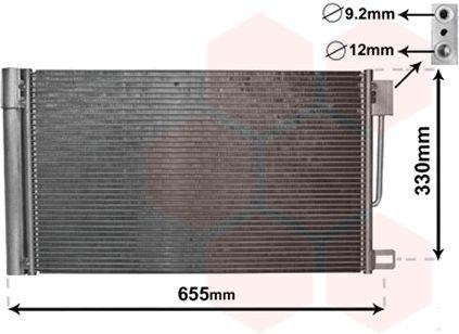 Condenseur, climatisation - VAN WEZEL - 17005314