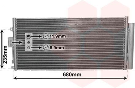 Condenseur, climatisation - VAN WEZEL - 17005386