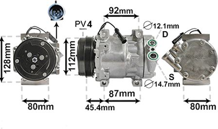 Compresseur, climatisation - VWA - 88VWA1700K366