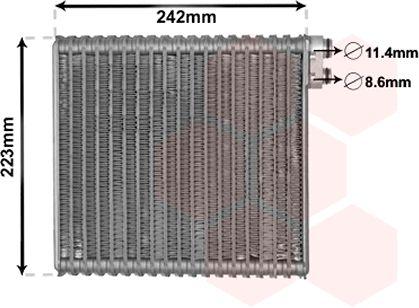 Evaporateur climatisation - VAN WEZEL - 1700V421