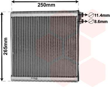 Evaporateur climatisation - VAN WEZEL - 1700V442