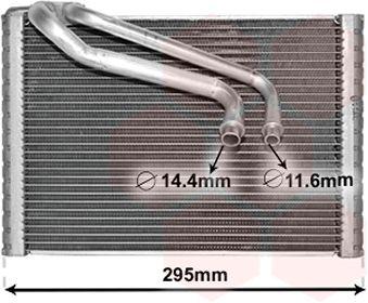 Evaporateur climatisation - VAN WEZEL - 1700V443