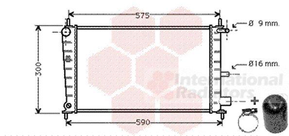 Radiateur, refroidissement du moteur - VAN WEZEL - 18002217