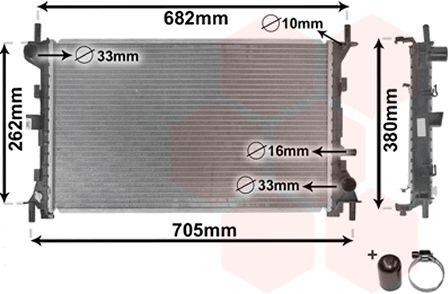 Radiateur, refroidissement du moteur - VAN WEZEL - 18002264