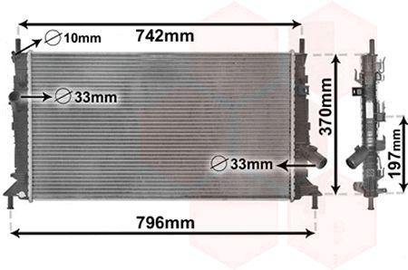 Radiateur, refroidissement du moteur - VAN WEZEL - 18002369