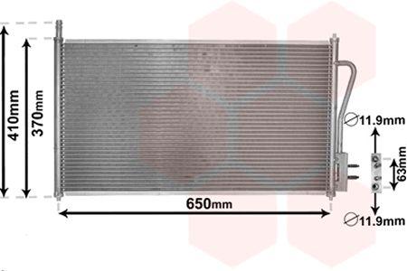 Condenseur, climatisation - VAN WEZEL - 18005268