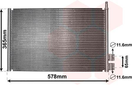 Condenseur, climatisation - VAN WEZEL - 18005328