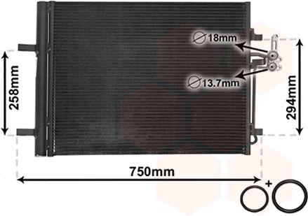 Condenseur, climatisation - VAN WEZEL - 18005427