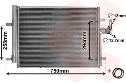 Condenseur, climatisation - VAN WEZEL - 18005428