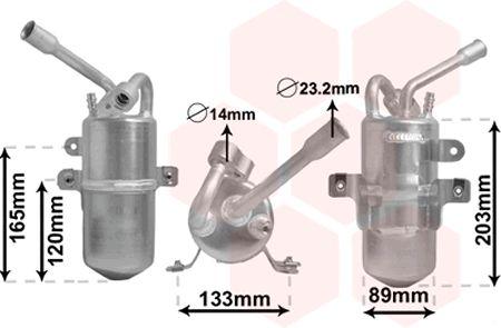 Filtre déshydratant, climatisation - VAN WEZEL - 1800D311
