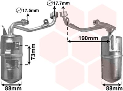Filtre déshydratant, climatisation - VWA - 88VWA1800D387