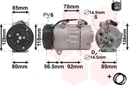 Compresseur, climatisation - VAN WEZEL - 1800K394