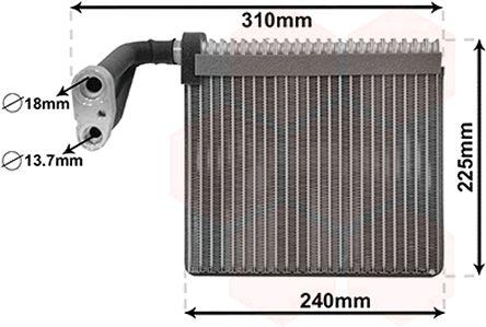 Evaporateur climatisation - VAN WEZEL - 1800V426