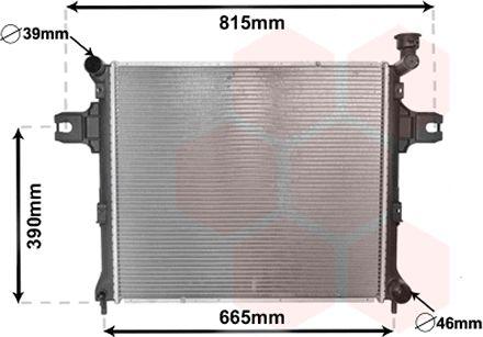 Radiateur, refroidissement du moteur - VAN WEZEL - 21002058