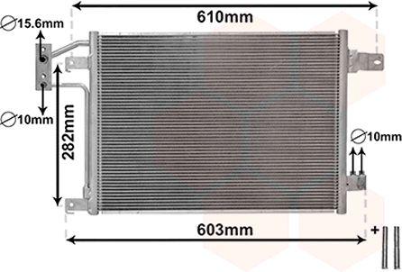 Condenseur, climatisation - VAN WEZEL - 21005049