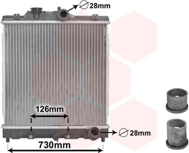 Radiateur, refroidissement du moteur - VAN WEZEL - 25002067