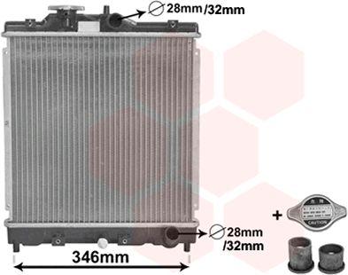 Radiateur, refroidissement du moteur - VAN WEZEL - 25002121