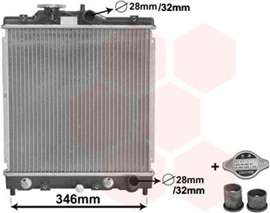 Radiateur, refroidissement du moteur - VAN WEZEL - 25002122