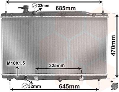 Radiateur, refroidissement du moteur - VAN WEZEL - 25002269
