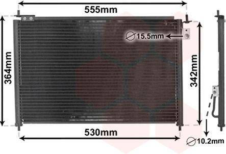 Condenseur, climatisation - VAN WEZEL - 25005209