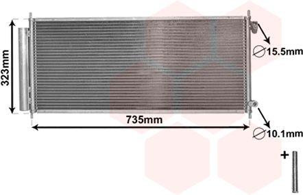 Condenseur, climatisation - VAN WEZEL - 25005222