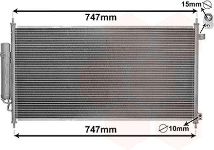 Condenseur, climatisation - VAN WEZEL - 25005233