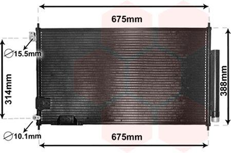 Condenseur, climatisation - VAN WEZEL - 25005239