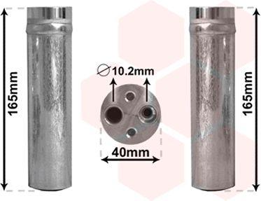 Filtre déshydratant, climatisation - VAN WEZEL - 2500D230