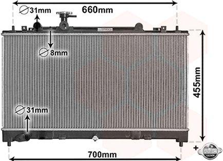 Radiateur, refroidissement du moteur - VAN WEZEL - 27002227