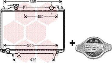 Radiateur, refroidissement du moteur - VAN WEZEL - 27002235