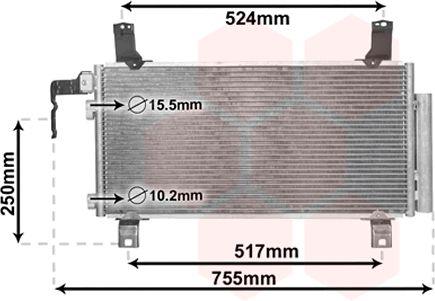 Condenseur, climatisation - VAN WEZEL - 27005158