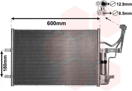 Condenseur, climatisation - VAN WEZEL - 27005184