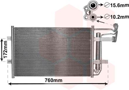 Condenseur, climatisation - VAN WEZEL - 27005252