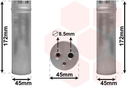 Filtre déshydratant, climatisation - VAN WEZEL - 2700D185