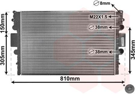 Radiateur, refroidissement du moteur - VAN WEZEL - 28002043