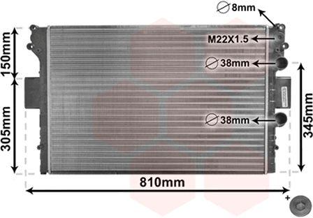 Radiateur, refroidissement du moteur - VAN WEZEL - 28002049
